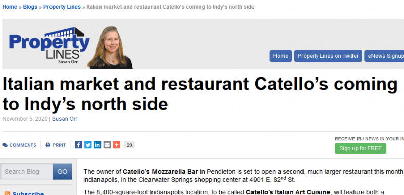 Italian market and restaurant Catello's coming to Indy's north side