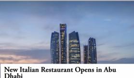 New Italian Restaurant Opens in Abu Dhabi – Retail & Leisure International