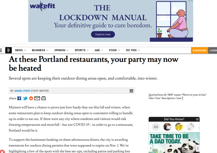At these Portland restaurants, your party may now be heated