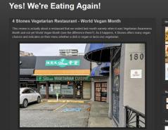 4 Stones Vegetarian Restaurant World Vegan Month