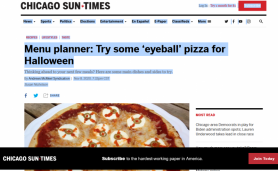 Menu planner: Try some 'eyeball' pizza for Halloween