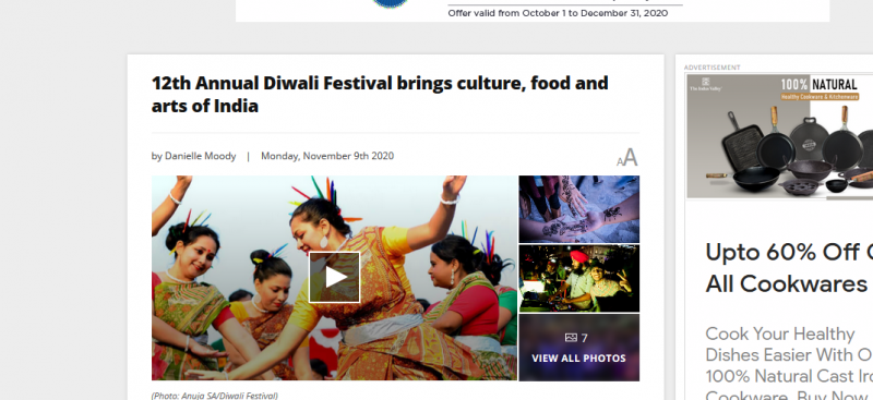 12th Annual Diwali Festival brings culture, food and arts of India