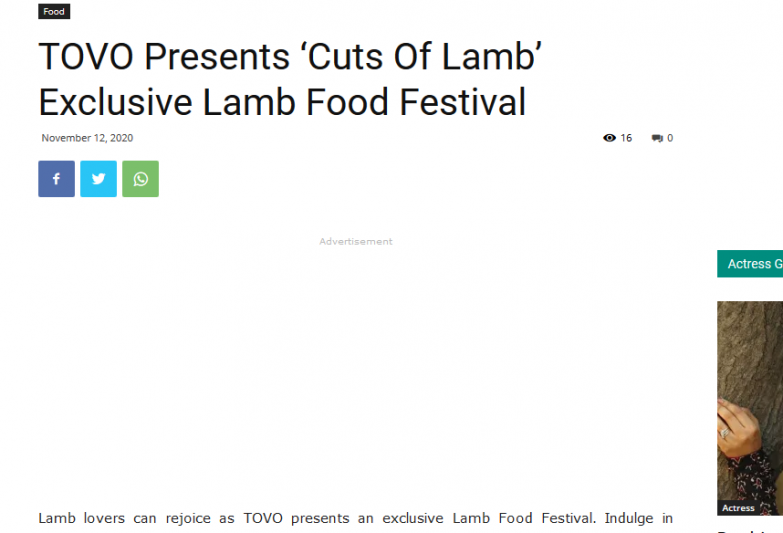 TOVO Presents 'Cuts Of Lamb' Exclusive Lamb Food Festival | RITZ