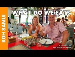 WHAT DO WE EAT in Koh Samui?? Foods we Eat at Restaurants we Visit at Chaweng Beach! Part 1