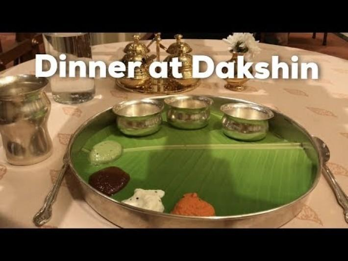 Dinner in Dakshin at ITC Windsor