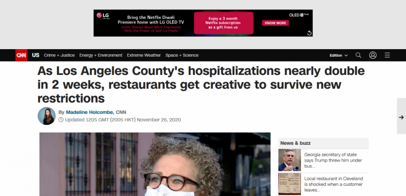 As Los Angeles County's hospitalizations nearly double in 2 weeks, restaurants get creative to survive new restrictions