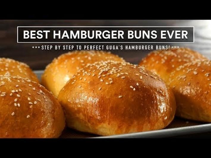 Most AMAZING HAMBURGER BUNS recipe ever | GugaFoods