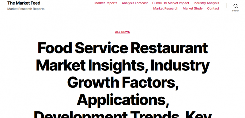 Food Service Restaurant Market Insights, Industry Growth Factors, Applications, Development Trends, Key Players and Forecasts by 2025