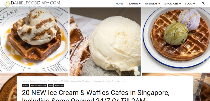 20 NEW Ice Cream & Waffles Cafes In Singapore, Including Some Opened 24/7 Or Till 2AM – DanielFoodDiary.com