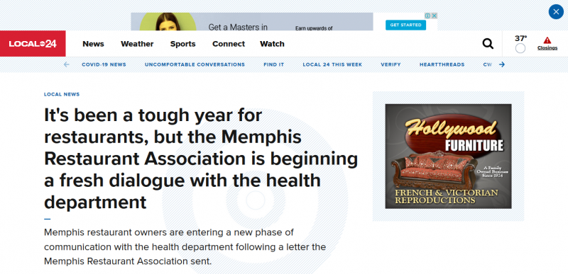 It's been a tough year for restaurants, but the Memphis Restaurant Association is beginning a fresh dialogue with the health department