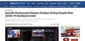 Danville Restaurants Reopen Outdoor Dining Despite New COVID-19 Shutdown Order