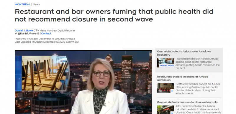 Restaurant and bar owners fuming that public health did not recommend closure in second wave