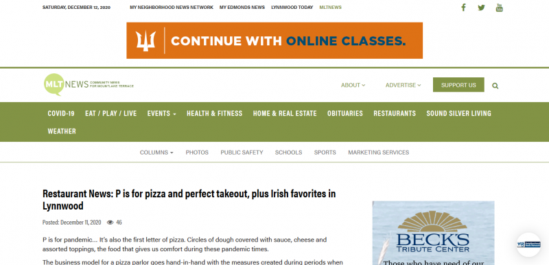 Restaurant News: P is for pizza and perfect takeout, plus Irish favorites in Lynnwood