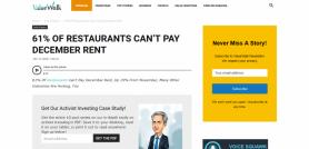 61% Of Restaurants Can't Pay December Rent ValueWalk