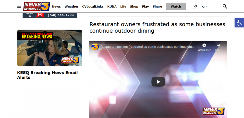 Restaurant owners frustrated as some businesses continue outdoor dining