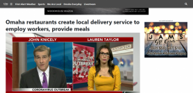 Omaha restaurants create local delivery service to employ workers, provide meals