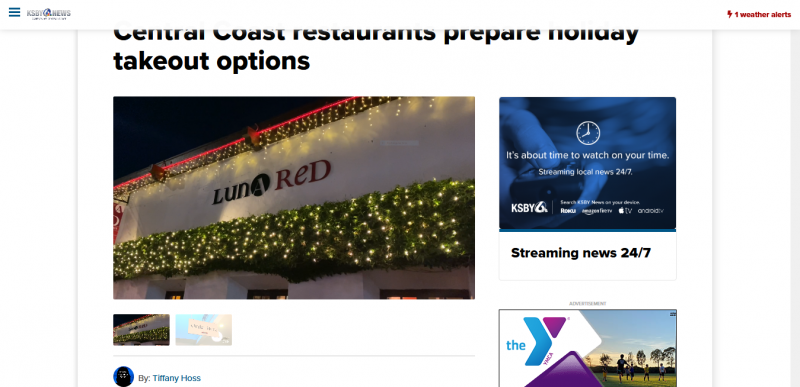 Central Coast restaurants prepare holiday takeout options