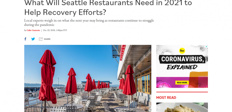 What Will Seattle Restaurants Need in 2021 to Help Recovery Efforts?