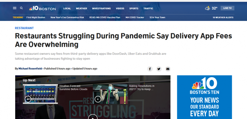 As Restaurants Struggle to Survive Pandemic, Owners Say Delivery App Fees Are Overwhelming