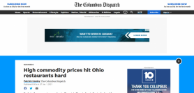 High commodity prices hit Ohio restaurants hard