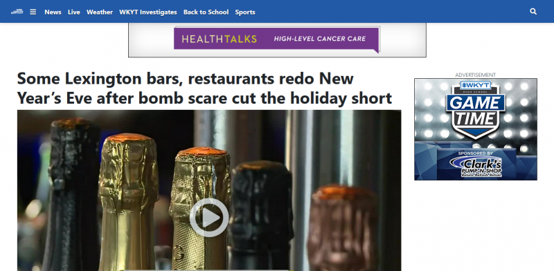Some Lexington bars, restaurants redo New Year's Eve after bomb scare cut the holiday short