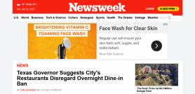 Texas governor suggests city's restaurants disregard overnight dine-in ban