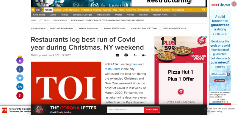 Restaurants log best run of Covid year during Christmas, NY weekend