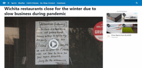 Wichita restaurants close for the winter due to slow business during pandemic