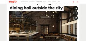 Owner of one of Toronto's top restaurants opening a massive dining hall outside the city