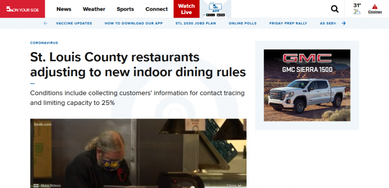 St. Louis County restaurants adjusting to new indoor dining rules