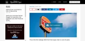 Burger King rebrands with new logo modern design and cleaner food