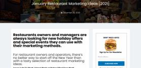 January Restaurant Marketing Ideas 2021