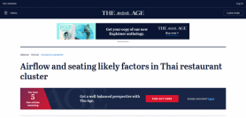 Airflow and seating likely factors in Thai restaurant cluster