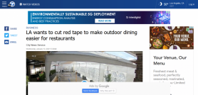 LA wants to cut red tape to make outdoor dining easier for restaurants
