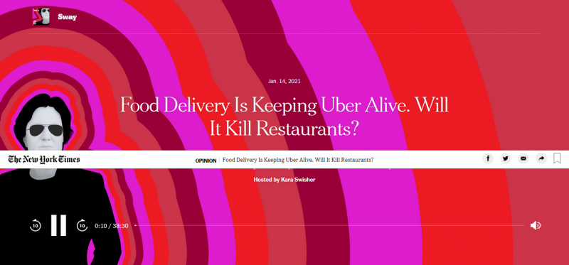 Food Delivery Is Keeping Uber Alive. Will It Kill Restaurants?