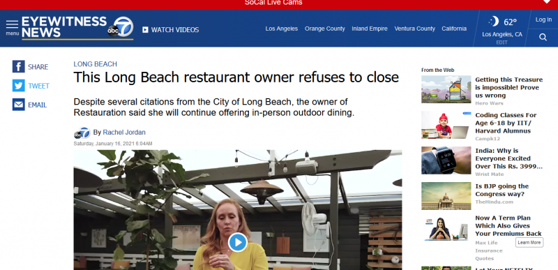 This Long Beach restaurant owner refuses to close