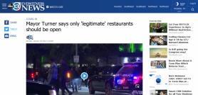 Mayor Turner says only 'legitimate' restaurants should be open