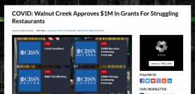 COVID: Walnut Creek Approves $1M In Grants For Struggling Restaurants