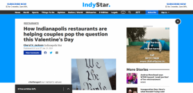 How Indianapolis restaurants are helping couples pop the question this Valentine's Day