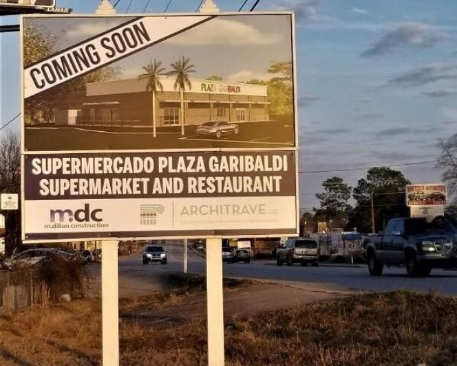 Sign says supermarket, restaurant coming to West Columbia