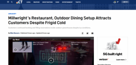 Millwright's Restaurant, Outdoor Dining Setup Attracts Customers Despite Frigid Cold