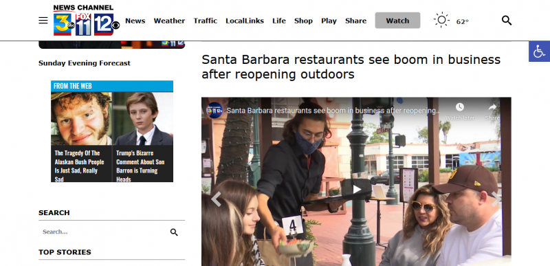 Santa Barbara restaurants see boom in business after reopening outdoors