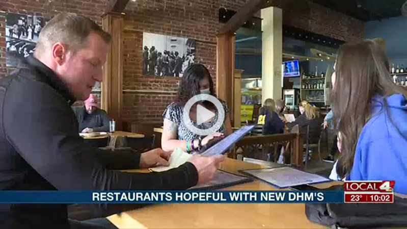 Local restaurants hopeful with new Directed Health Measures