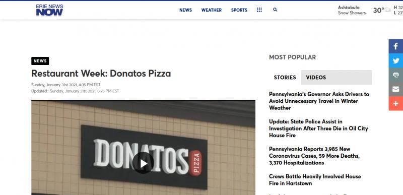 Restaurant Week: Donatos Pizza