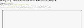Starting Friday, Curfew on Restaurants + Bars is Lifted in Hoboken + Jersey City Hoboken Girl