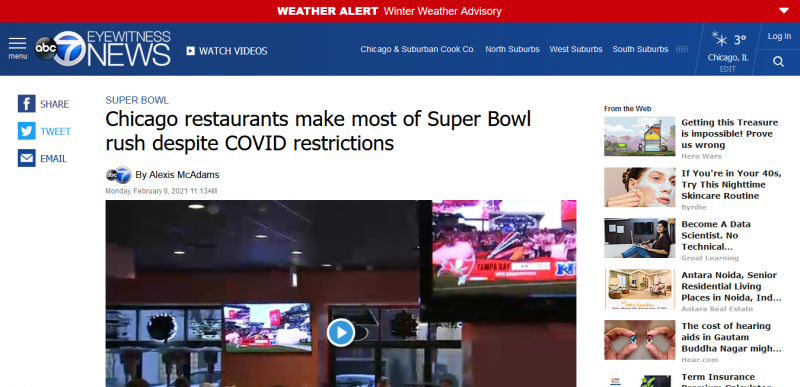 Chicago restaurants make most of Super Bowl rush despite COVID restrictions