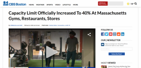 Capacity Limit Officially Increased To 40% At Massachusetts Gyms, Restaurants, Stores