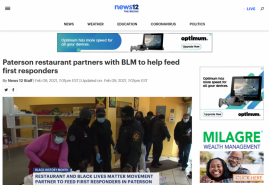 Paterson restaurant partners with BLM to help feed first responders