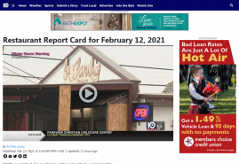 Restaurant Report Card for February 12, 2021