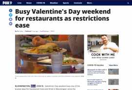 Busy Valentine's Day weekend for restaurants as restrictions ease